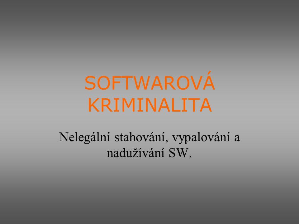 SOFTWAROVÁ KRIMINALITA