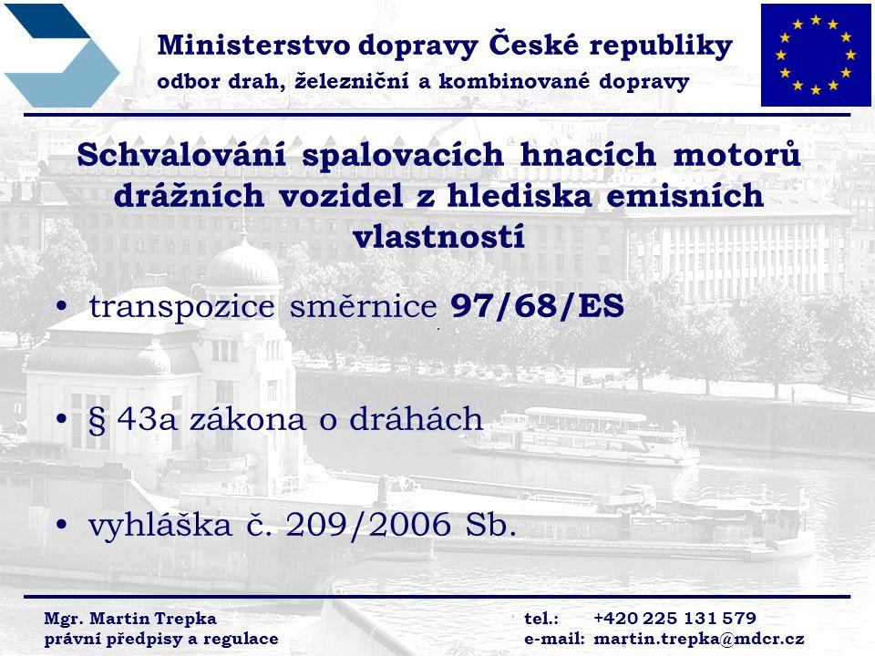 transpozice směrnice 97/68/ES