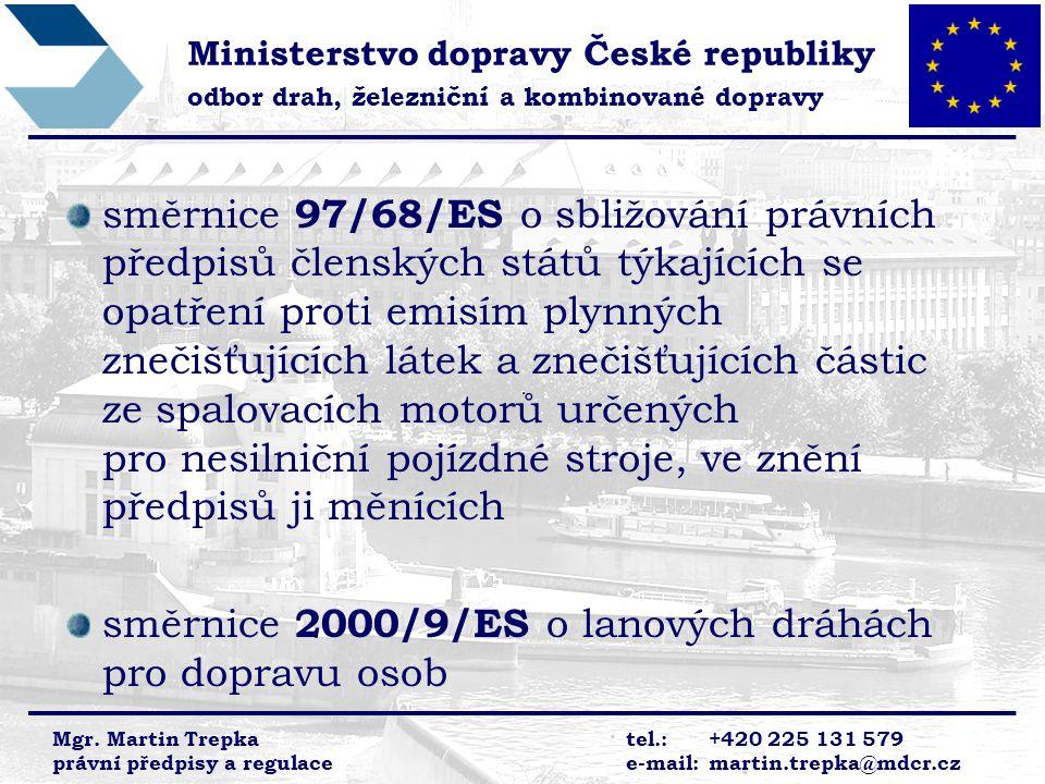 směrnice 2000/9/ES o lanových dráhách pro dopravu osob