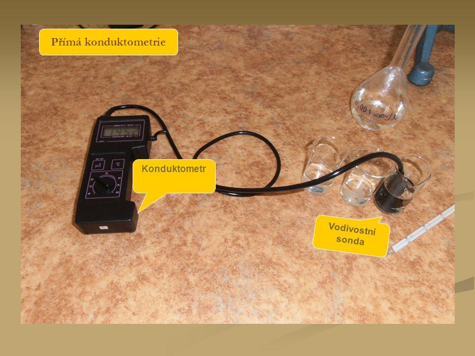 Přímá konduktometrie Konduktometr Vodivostní sonda