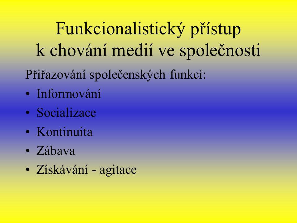 Funkcionalistický přístup k chování medií ve společnosti