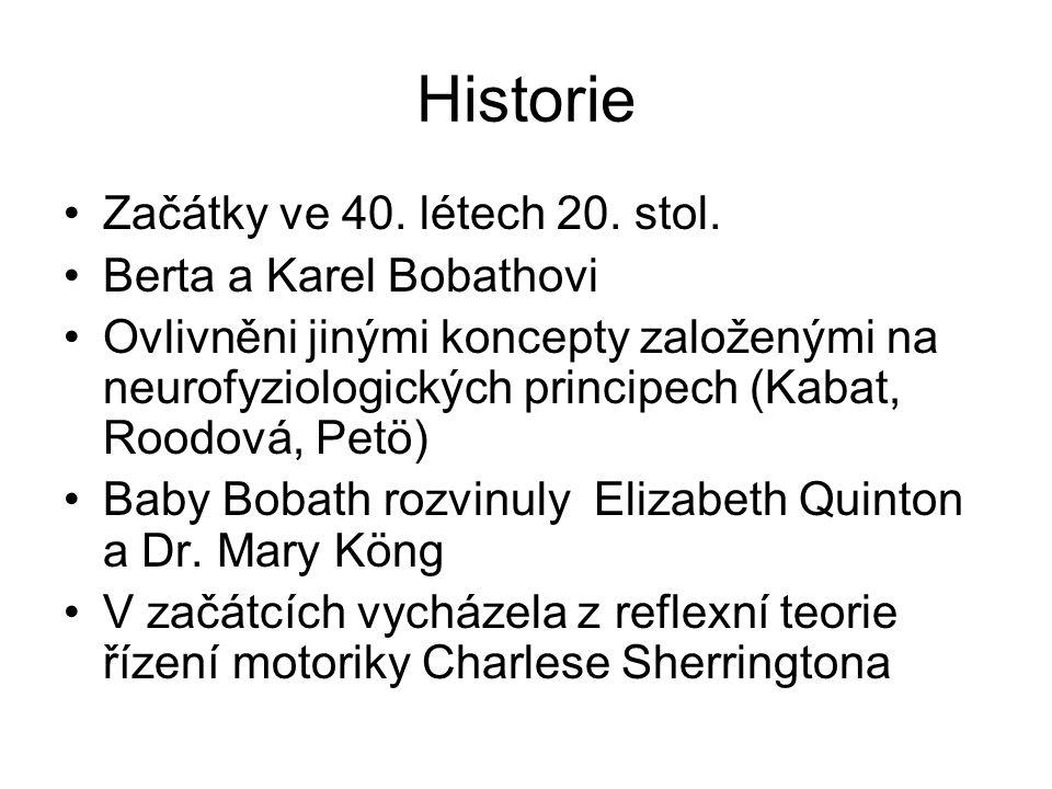 Historie Začátky ve 40. létech 20. stol. Berta a Karel Bobathovi
