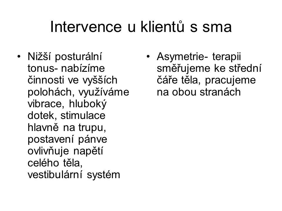 Intervence u klientů s sma