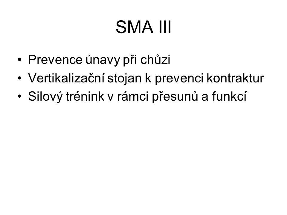 SMA III Prevence únavy při chůzi