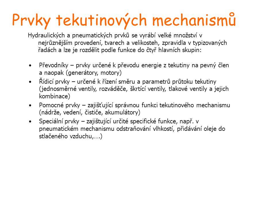 Prvky tekutinových mechanismů