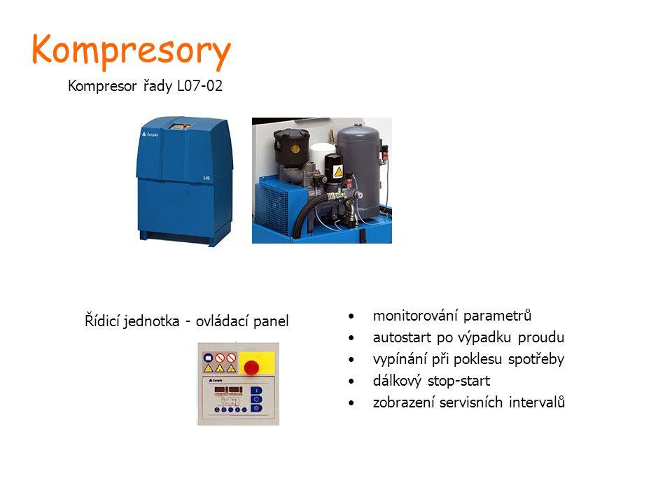 Kompresory Kompresor řady L07-02 monitorování parametrů