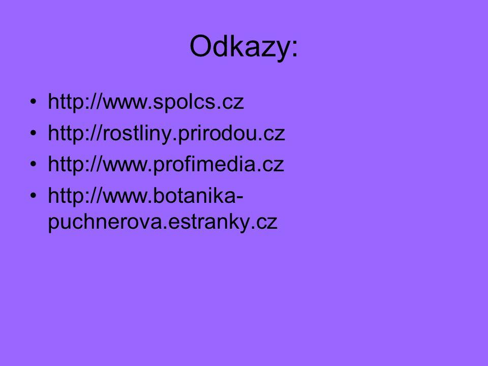 Odkazy: http://www.spolcs.cz http://rostliny.prirodou.cz