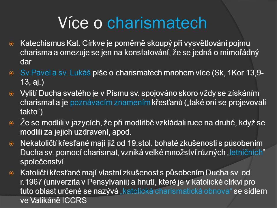 Více o charismatech