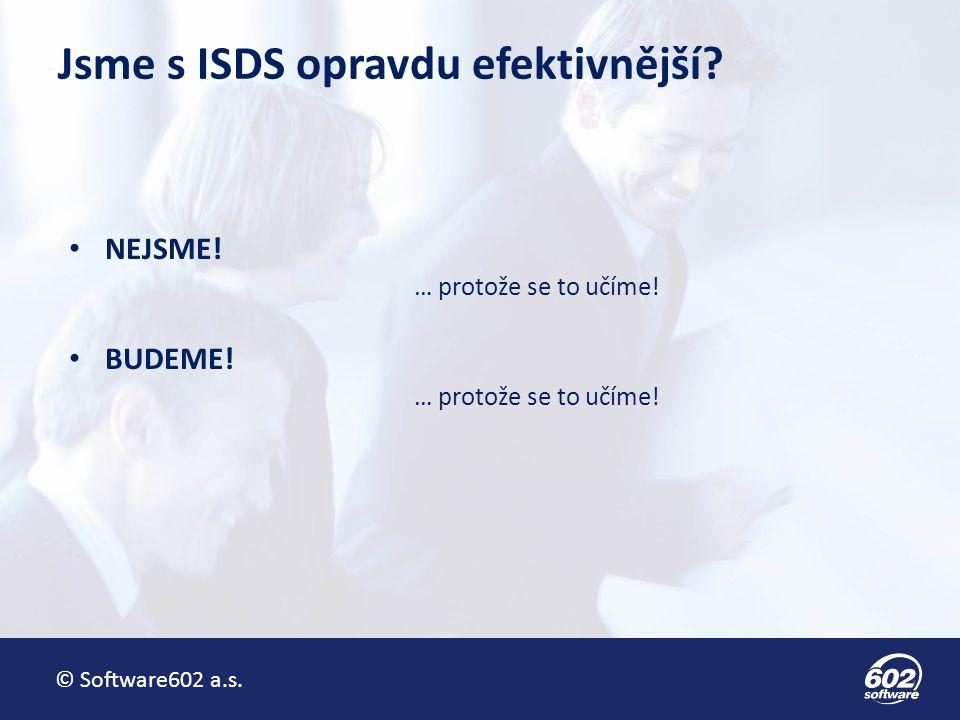 Jsme s ISDS opravdu efektivnější