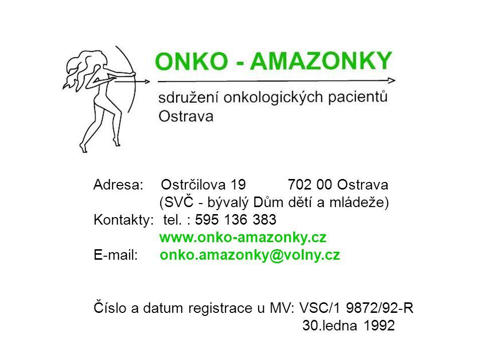 Adresa: Ostrčilova 19 702 00 Ostrava