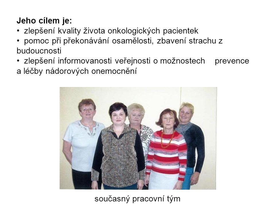 Jeho cílem je: zlepšení kvality života onkologických pacientek. pomoc při překonávání osamělosti, zbavení strachu z budoucnosti.