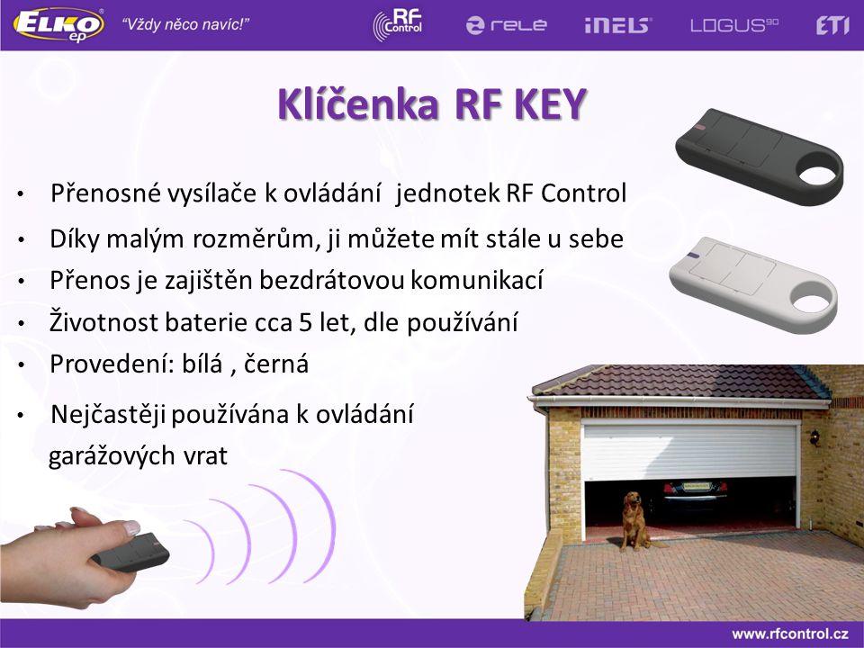 Klíčenka RF KEY Přenosné vysílače k ovládání jednotek RF Control