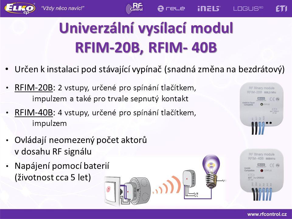 Univerzální vysílací modul RFIM-20B, RFIM- 40B