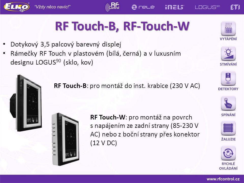 RF Touch-B, RF-Touch-W Dotykový 3,5 palcový barevný displej