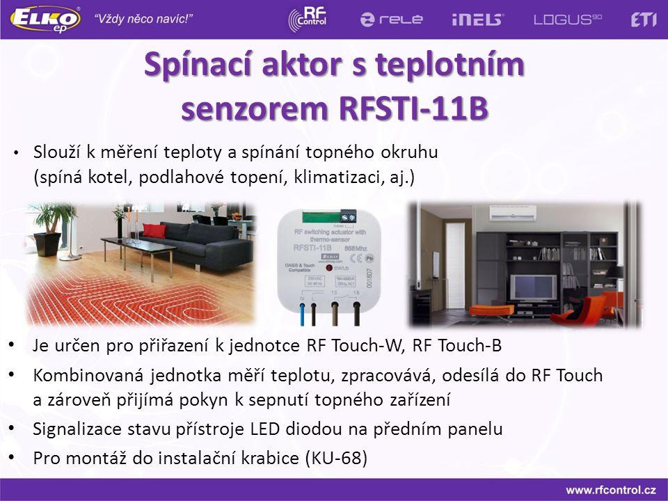 Spínací aktor s teplotním senzorem RFSTI-11B