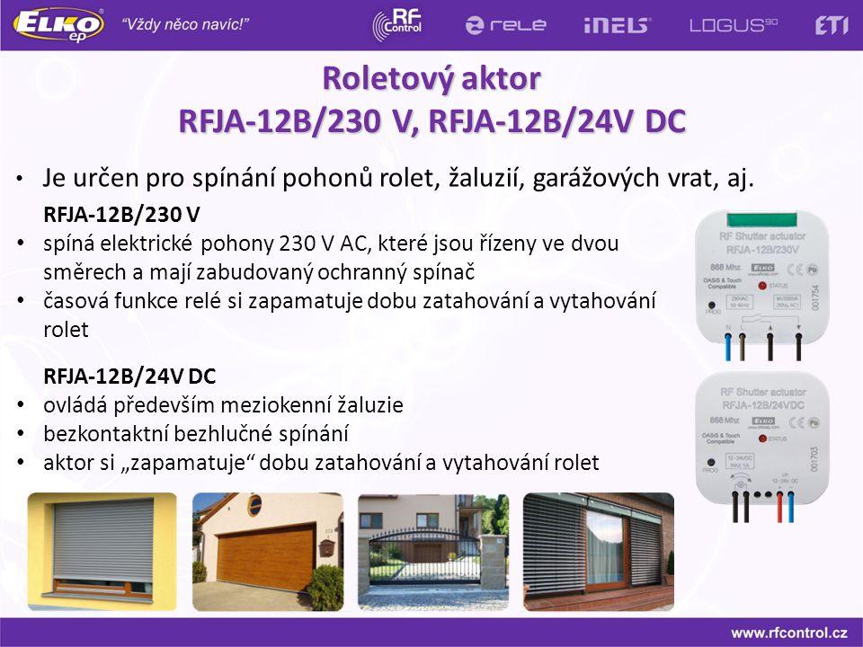 Roletový aktor RFJA-12B/230 V, RFJA-12B/24V DC