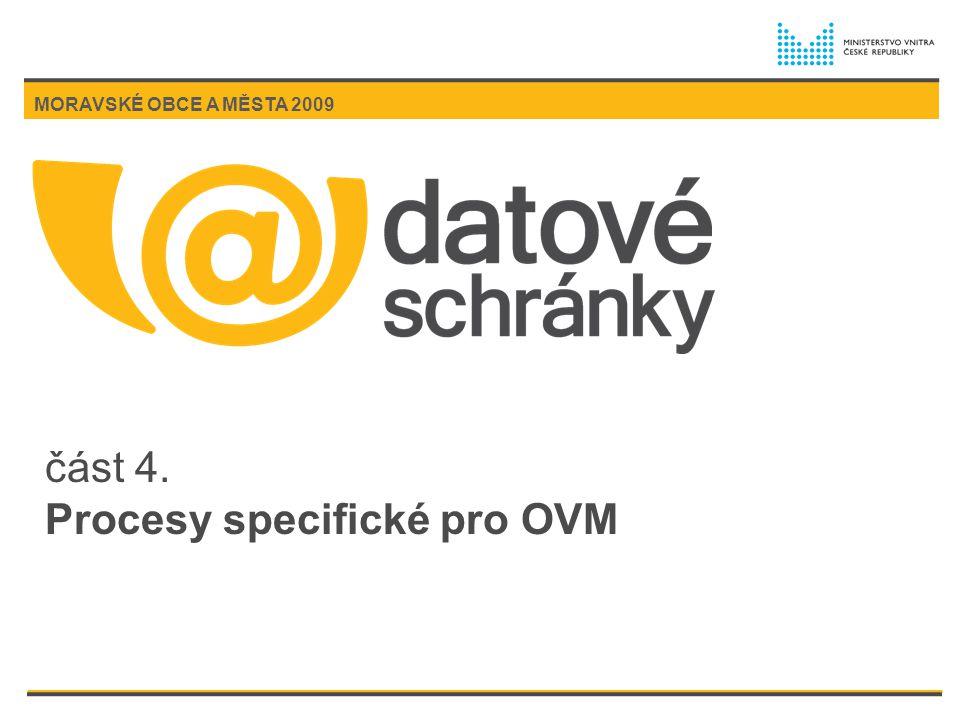část 4. Procesy specifické pro OVM