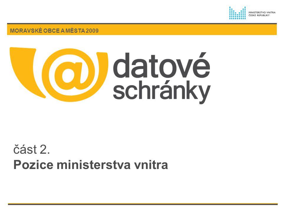 část 2. Pozice ministerstva vnitra