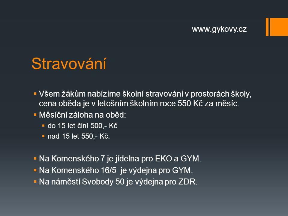 Stravování www.gykovy.cz