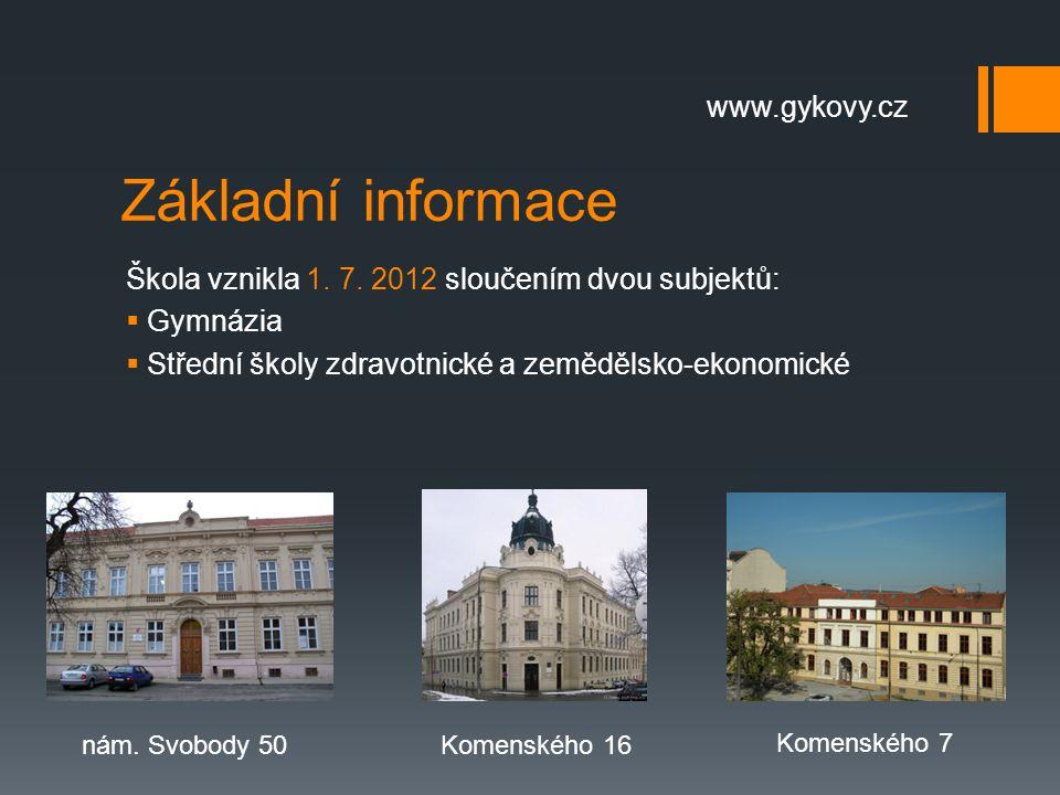 Základní informace www.gykovy.cz