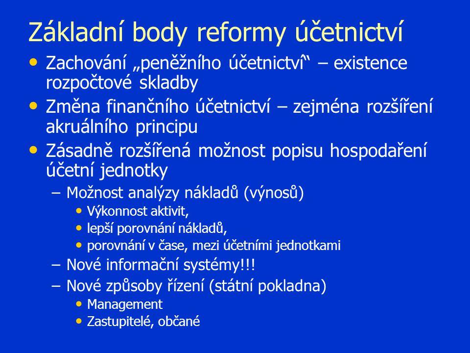 Základní body reformy účetnictví