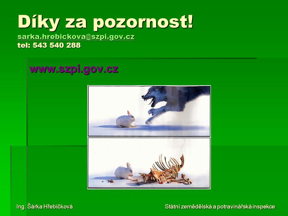 Díky za pozornost! sarka.hrebickova@szpi.gov.cz tel: 543 540 288