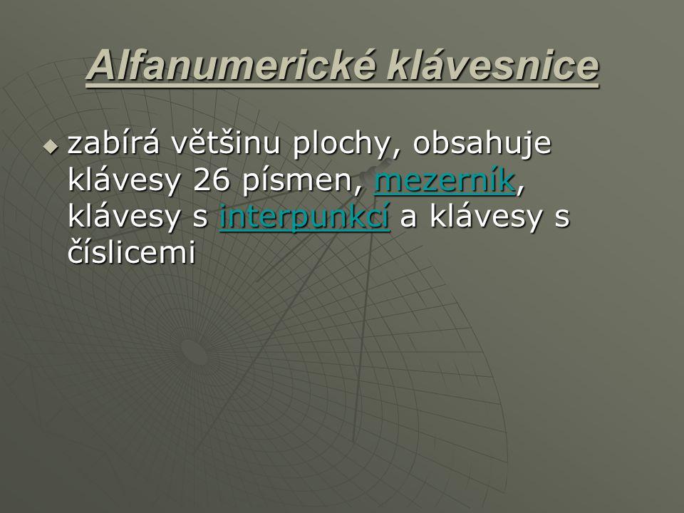 Alfanumerické klávesnice