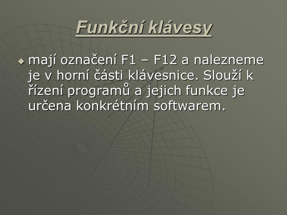 Funkční klávesy
