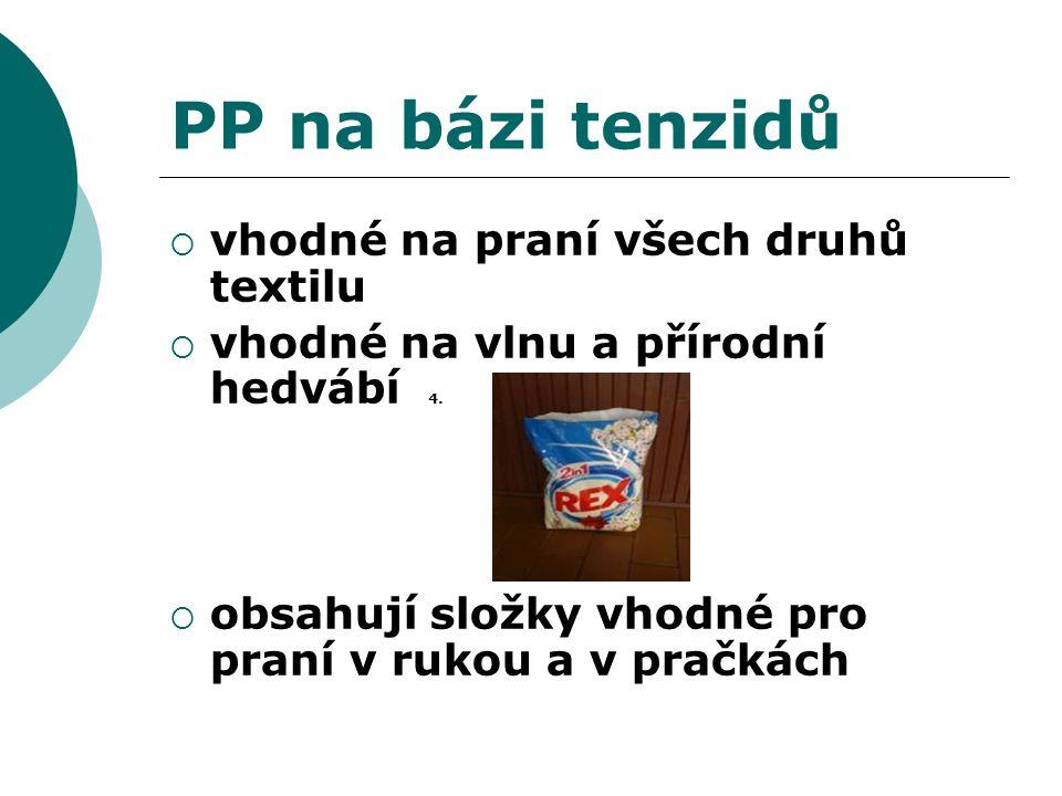 PP na bázi tenzidů vhodné na praní všech druhů textilu