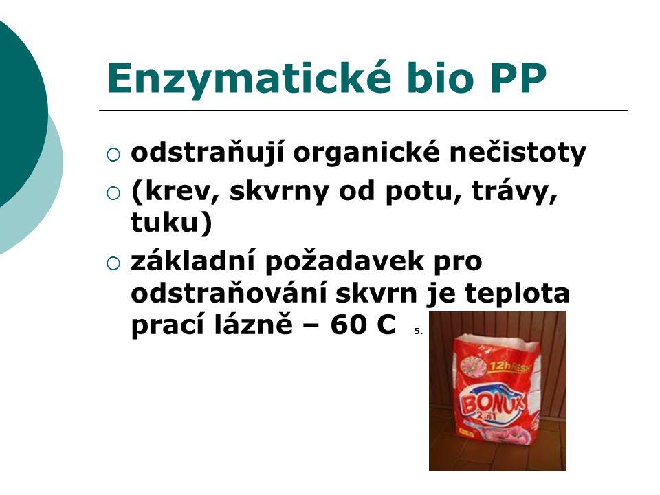 Enzymatické bio PP odstraňují organické nečistoty