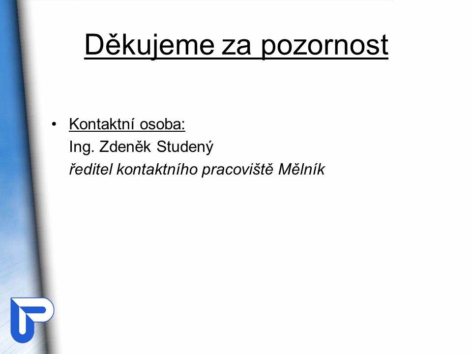 Děkujeme za pozornost Kontaktní osoba: Ing. Zdeněk Studený
