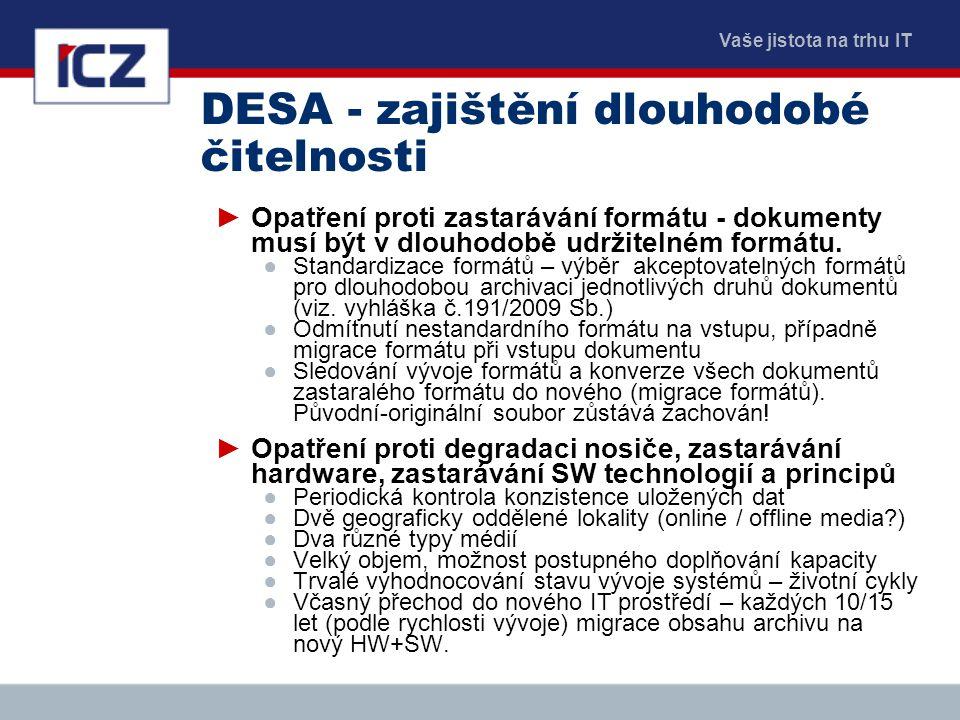 DESA - zajištění dlouhodobé čitelnosti