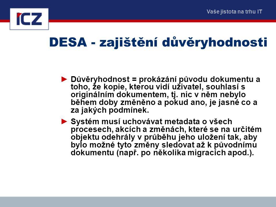 DESA - zajištění důvěryhodnosti