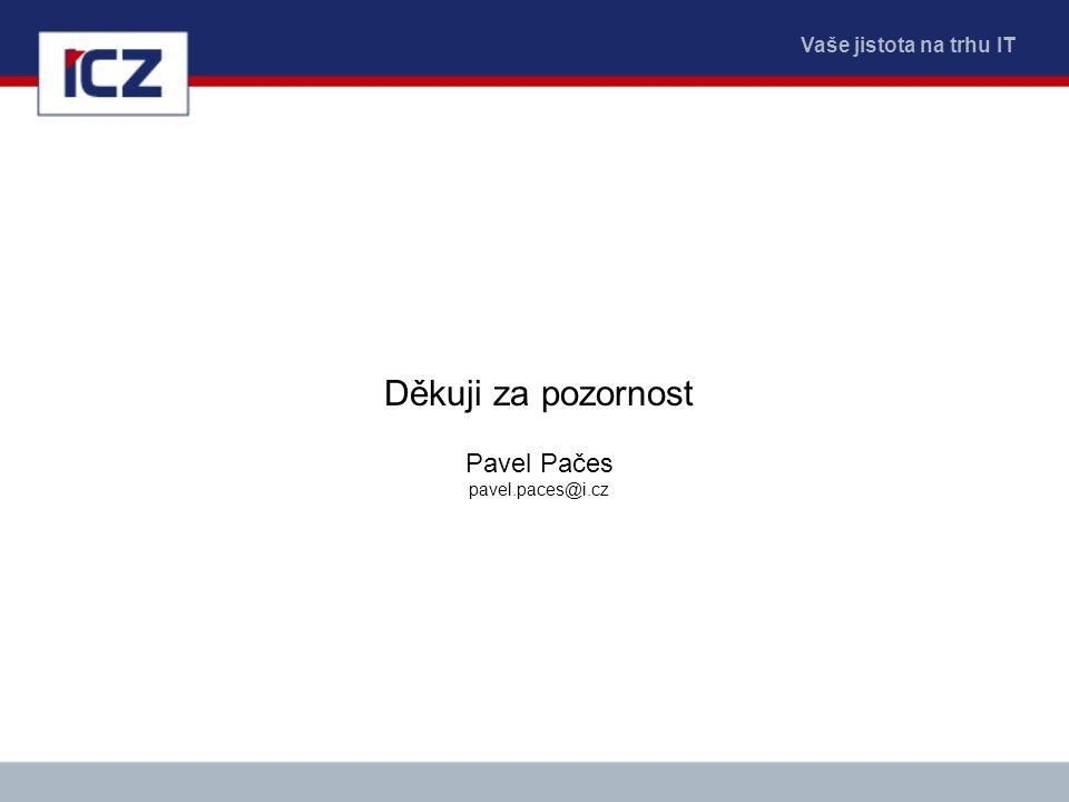 Děkuji za pozornost Pavel Pačes pavel.paces@i.cz