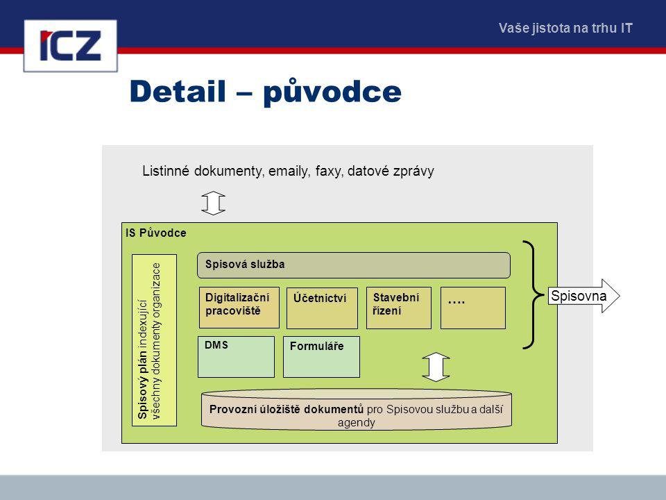 Provozní úložiště dokumentů pro Spisovou službu a další agendy