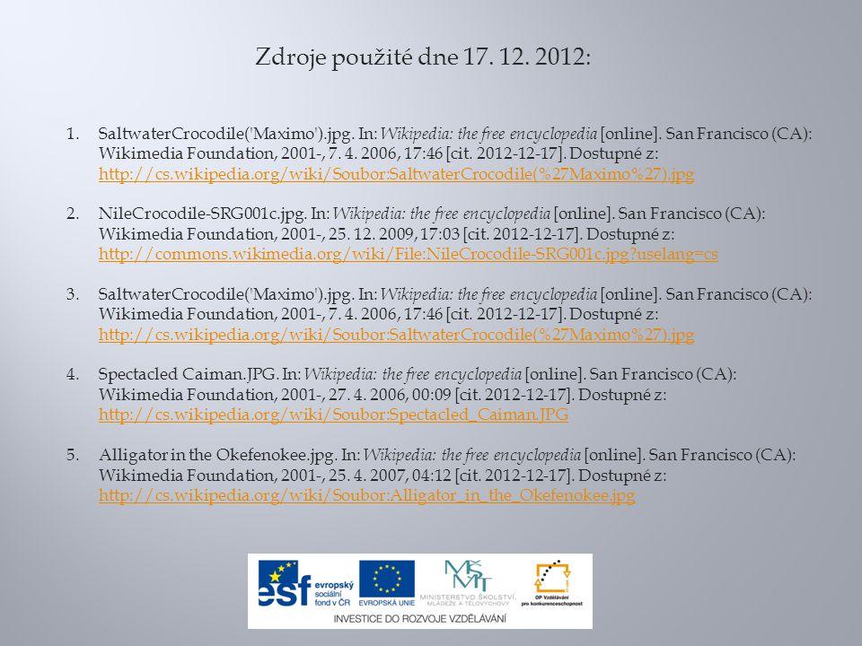 Zdroje použité dne 17. 12. 2012: