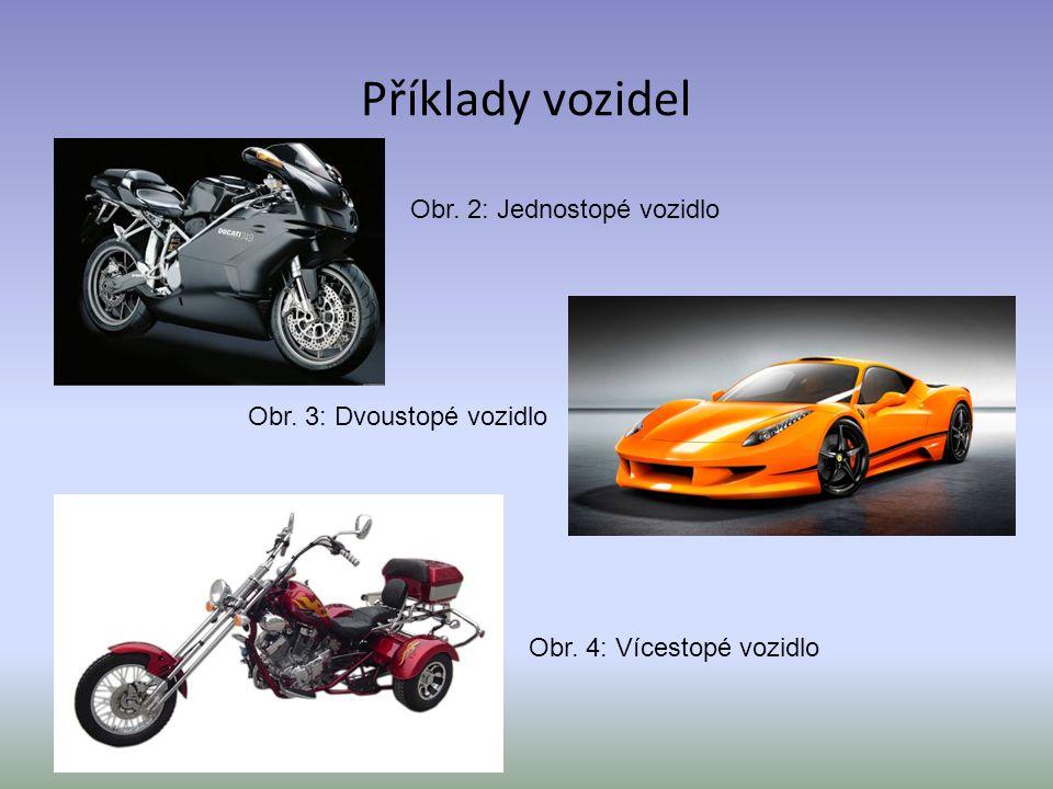 Příklady vozidel Obr. 2: Jednostopé vozidlo Obr. 3: Dvoustopé vozidlo
