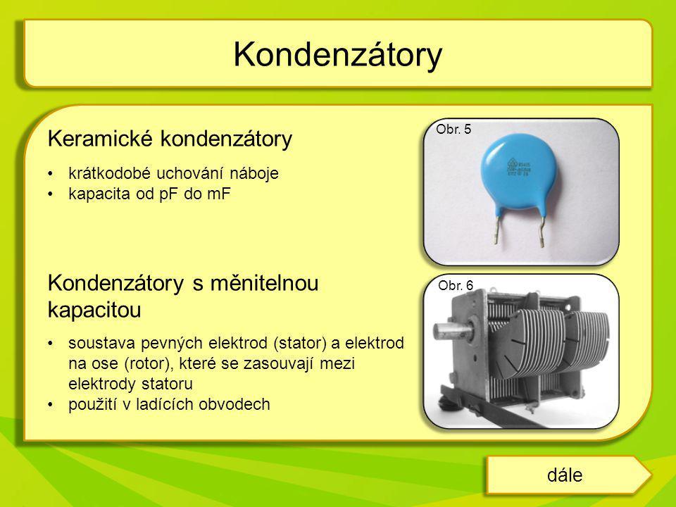 Kondenzátory Keramické kondenzátory