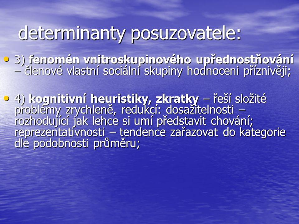 determinanty posuzovatele: