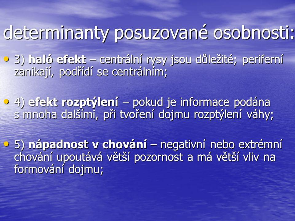 determinanty posuzované osobnosti:
