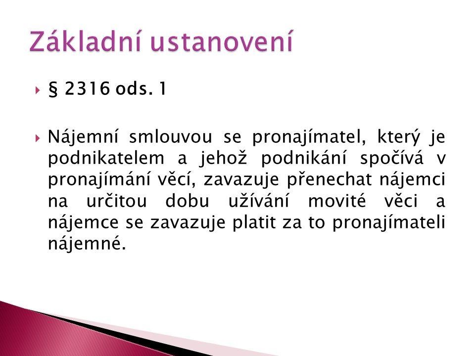 Základní ustanovení § 2316 ods. 1