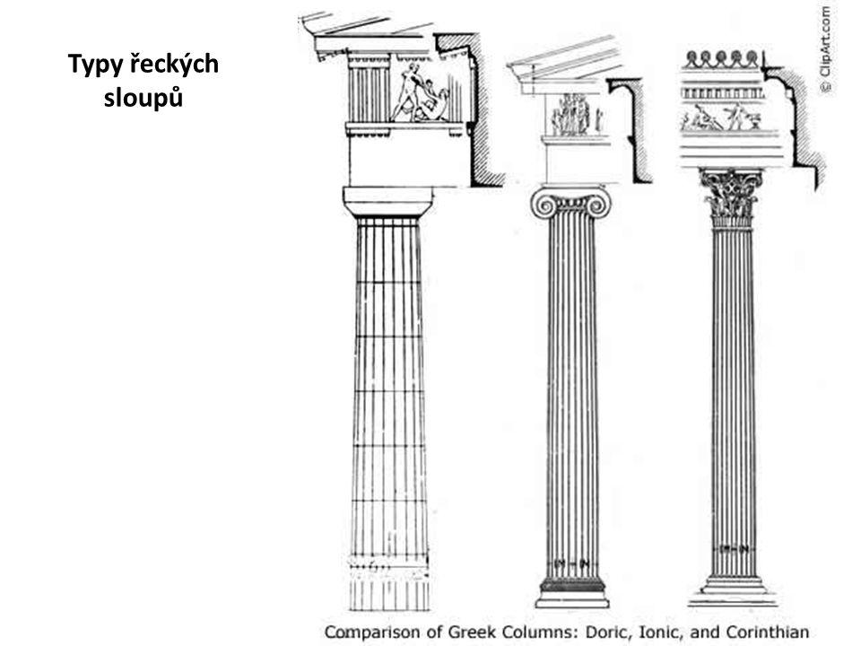 Typy řeckých sloupů