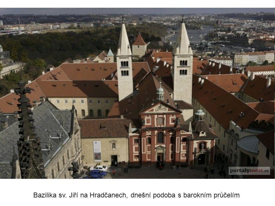 Bazilika sv. Jiří na Hradčanech, dnešní podoba s barokním průčelím