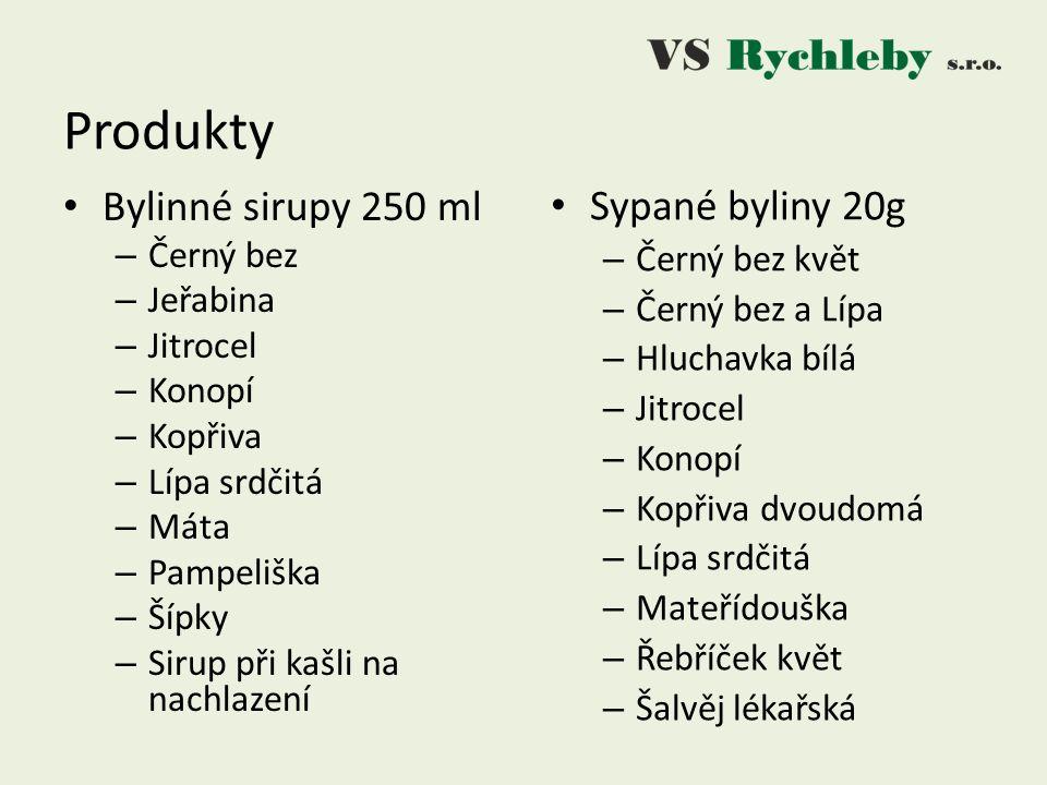 Produkty Sypané byliny 20g Bylinné sirupy 250 ml Černý bez Jeřabina
