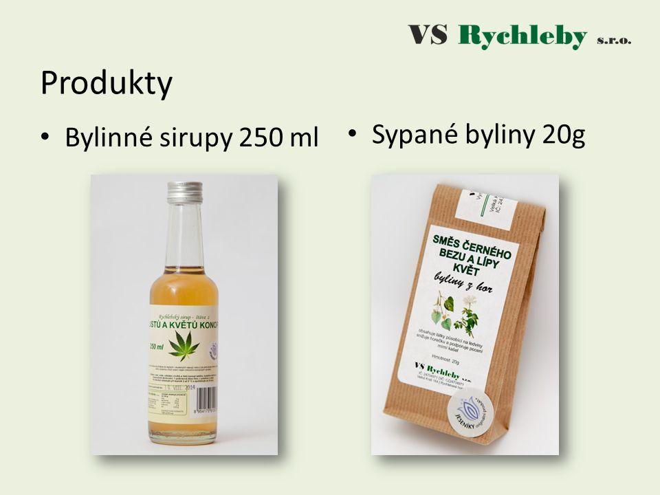 Produkty Bylinné sirupy 250 ml Sypané byliny 20g