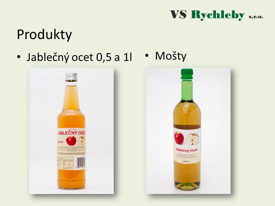 Produkty Jablečný ocet 0,5 a 1l Mošty