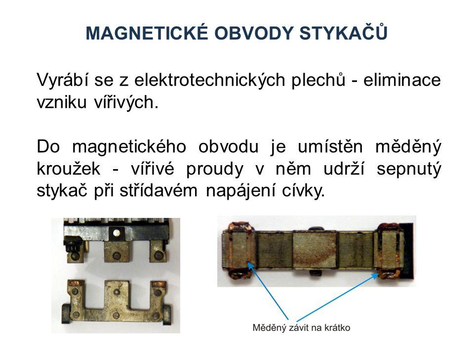 magnetické obvody stykačů