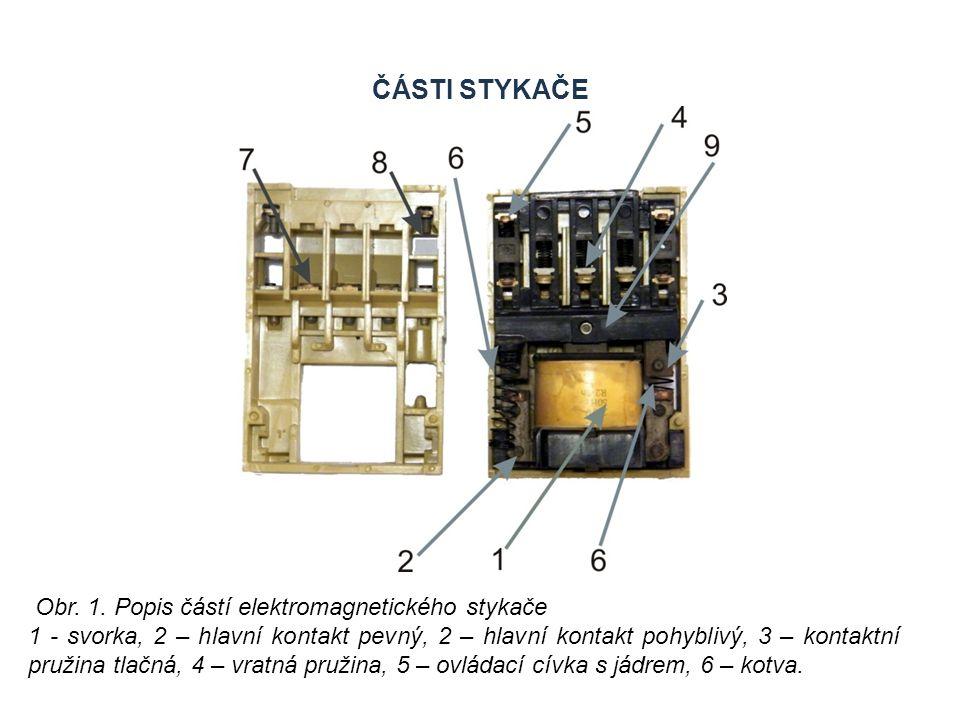 Části stykače Zdroje Obr. 1. Popis částí elektromagnetického stykače