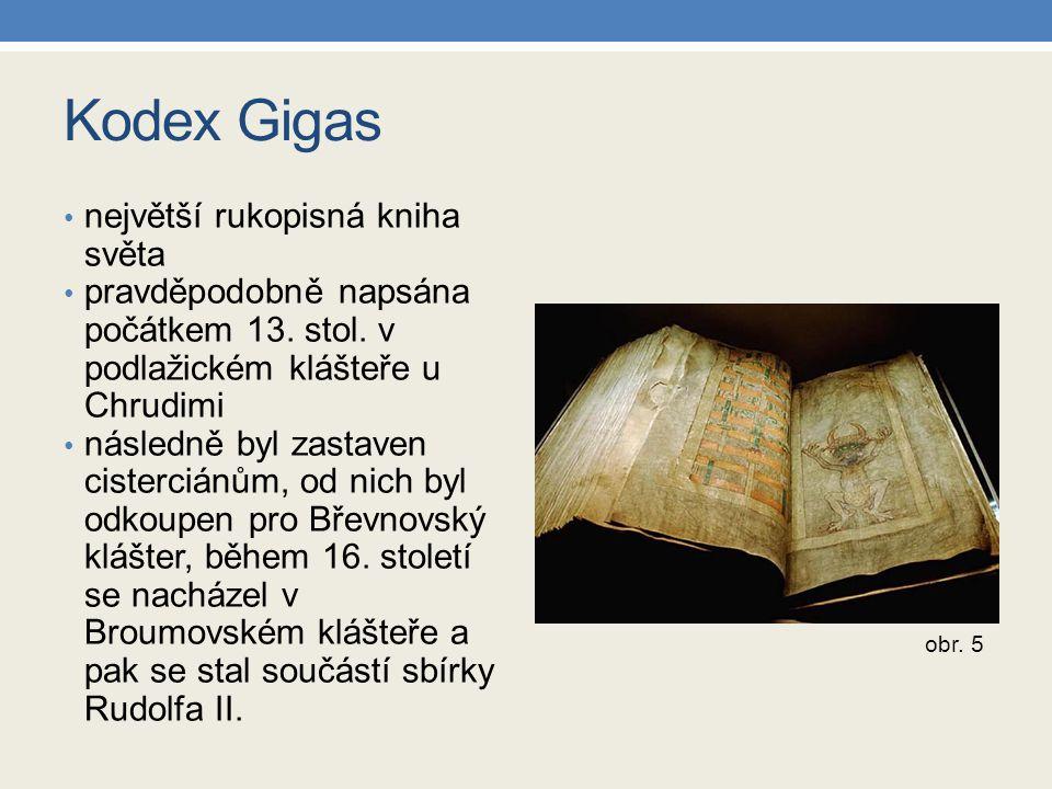 Kodex Gigas největší rukopisná kniha světa