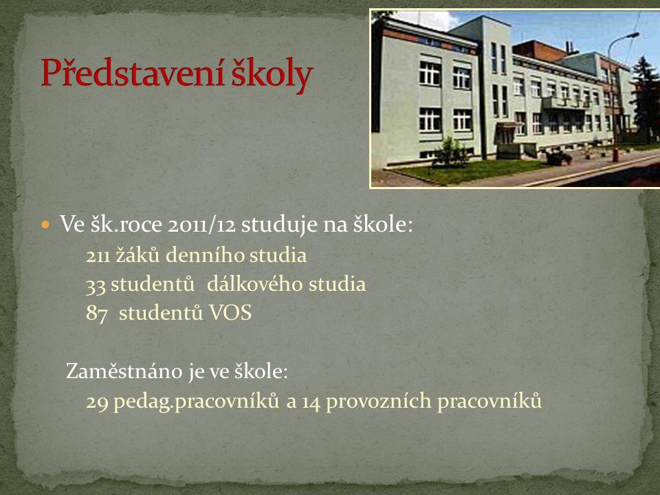Představení školy Ve šk.roce 2011/12 studuje na škole: